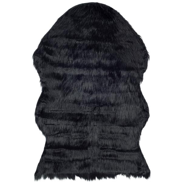 Safavieh Faux Sheep Skin Rug - 2' x 3' - Acrylic - Black