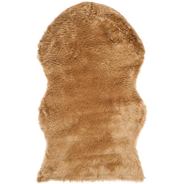 Safavieh Faux Sheep Skin Rug - 3' x 5' - Acrylic - Beige