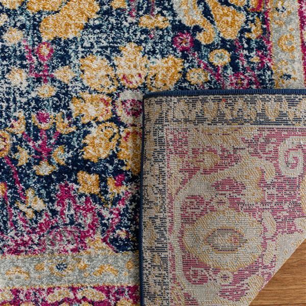 Safavieh Granada Floral Rug - 4' x 6' - Polypropylene - Blue/Fuchsia