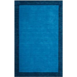Himalaya Border Rug - 4' x 6' - Wool - Blue