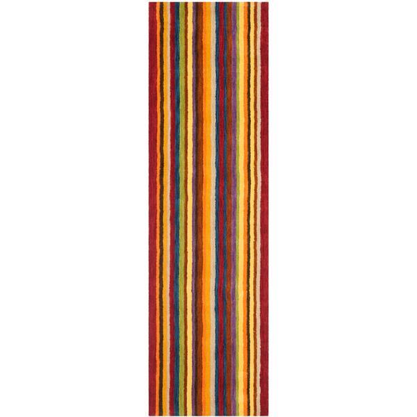 Himalaya Stripe Rug - 2.3' x 8' - Wool - Multicolour
