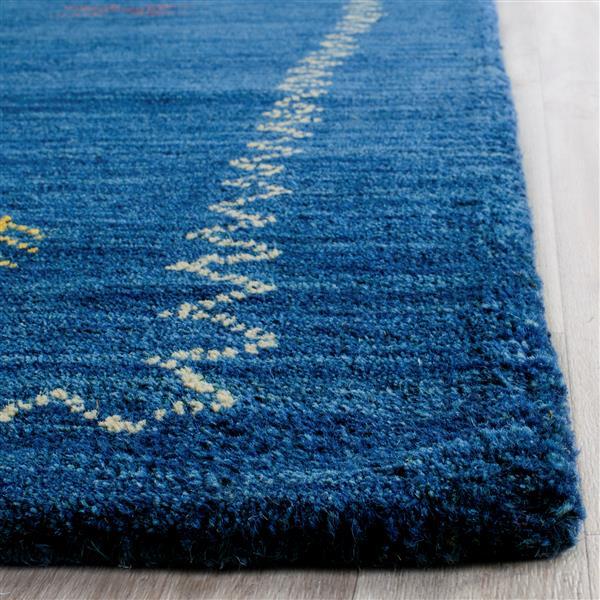Himalaya Border Rug - 2.3' x 6' - Wool - Blue