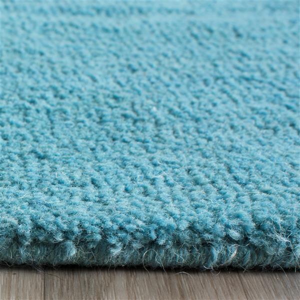 Himalaya Solid Rug - 4' x 6' - Wool - Turquoise