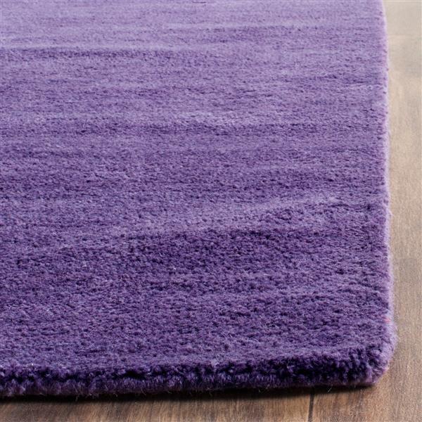 Himalaya Solid Rug - 2.3' x 8' - Wool - Purple