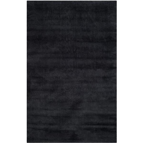 Himalaya Solid Rug - 4' x 6' - Wool - Black