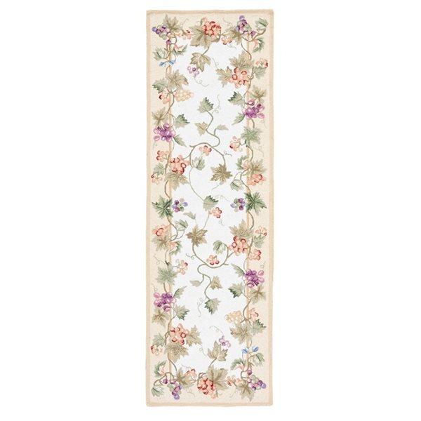 Safavieh Chelsea Floral Rug - 3' x 6' - Wool - Ivory
