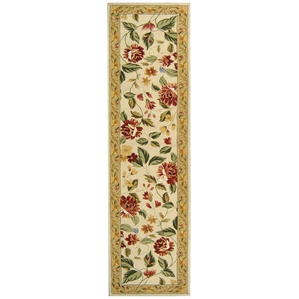Safavieh Chelsea Floral Rug - 2.5' x 8' - Wool - Ivory/Beige