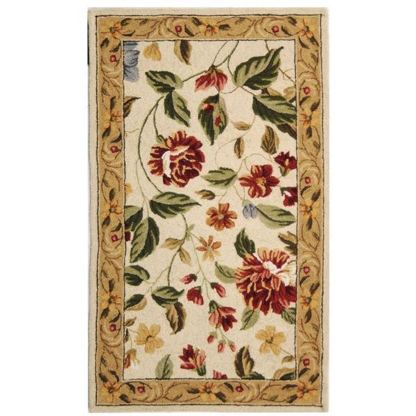 Safavieh Chelsea Floral Rug - 2.8' x 4.8' - Wool - Ivory/Beige