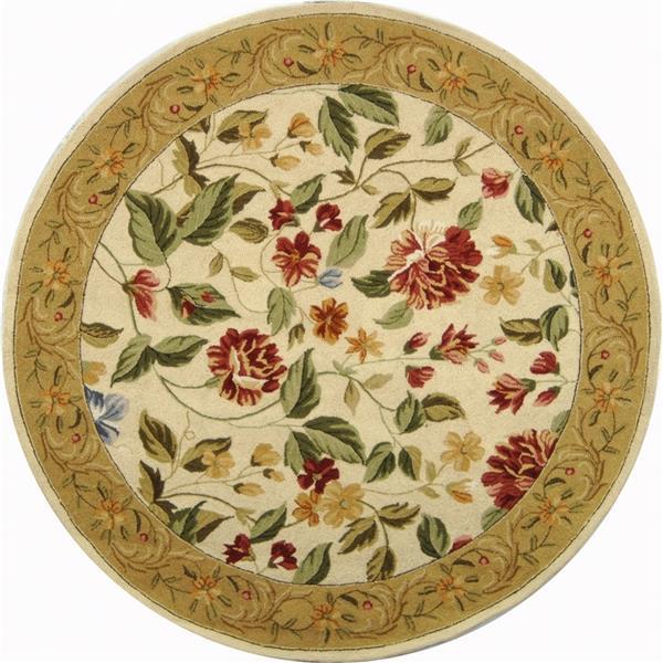 Safavieh Chelsea Floral Rug - 4' x 4' - Wool - Ivory/Beige