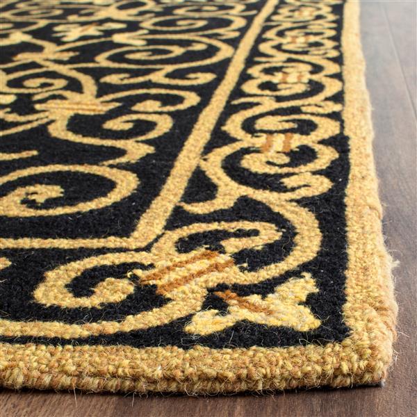 Safavieh Chelsea Floral Rug - 1.5' x 3' - Wool - Black