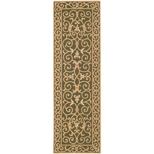 Safavieh Chelsea Floral Rug - 2.5' x 8' - Wool - Light Green