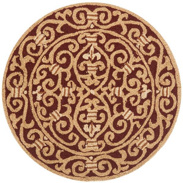 Safavieh Chelsea Floral Rug - 3' x 3' - Wool - Burgundy
