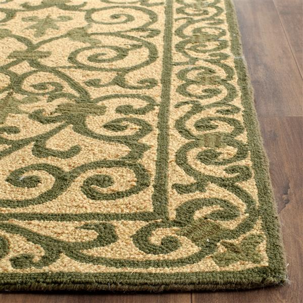 Safavieh Chelsea Floral Rug - 2.8' x 4.8' - Wool - Yellow/Light Green