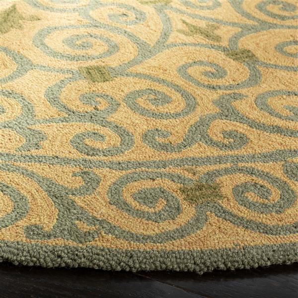 Safavieh Chelsea Floral Rug - 3' x 3' - Wool - Yellow/Light Green