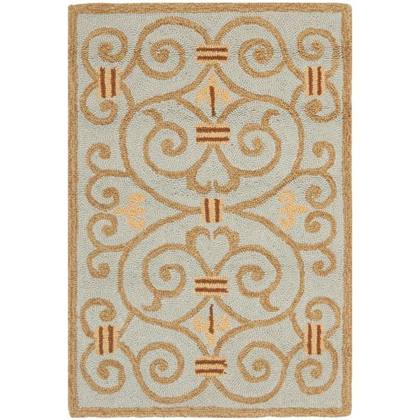 Safavieh Chelsea Floral Rug - 2.5' x 4' - Wool - Light Blue