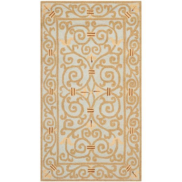 Safavieh Chelsea Floral Rug - 2.8' x 4.8' - Wool - Light Blue