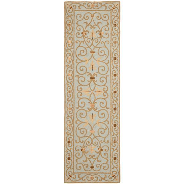 Safavieh Chelsea Floral Rug - 2.5' x 8' - Wool - Light Blue