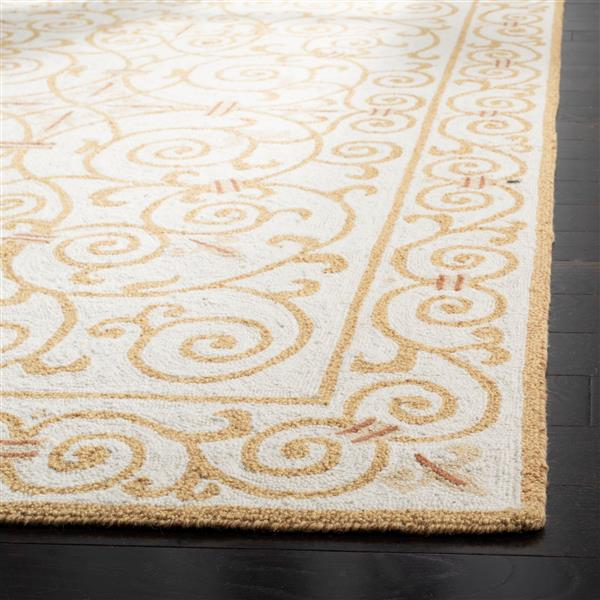Safavieh Chelsea Floral Rug - 1.7' x 2.5' - Wool - Ivory/Gold