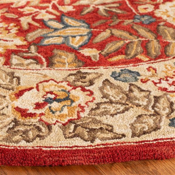 Safavieh Chelsea Floral Rug - 2.5' x 6' - Wool - Red/Ivory
