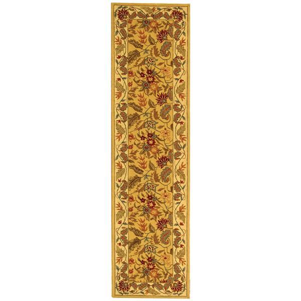 Safavieh Chelsea Floral Rug - 2.5' x 8' - Wool - Ivory