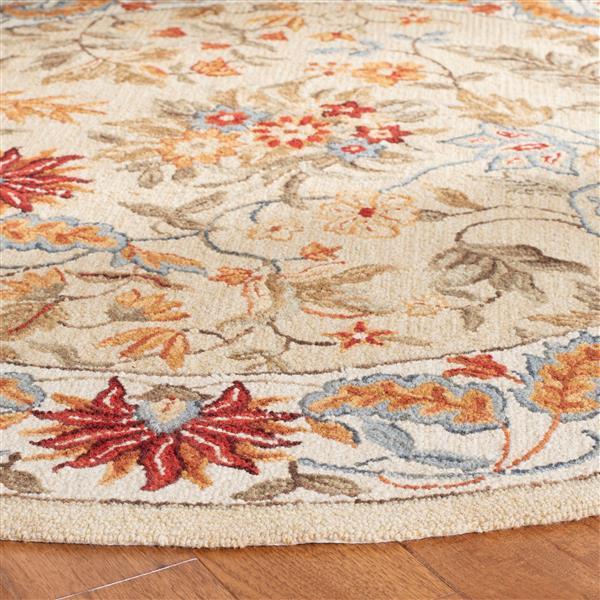 Safavieh Chelsea Floral Rug - 4' x 4' - Wool - Ivory