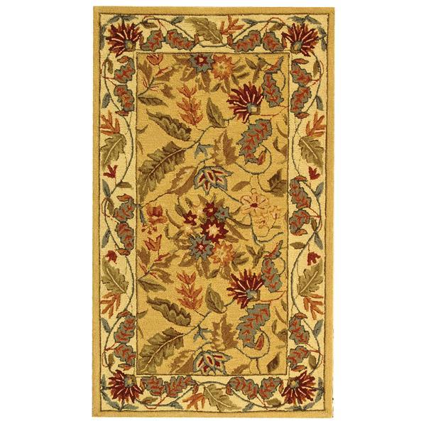Safavieh Chelsea Floral Rug - 2.8' x 4.8' - Wool - Ivory