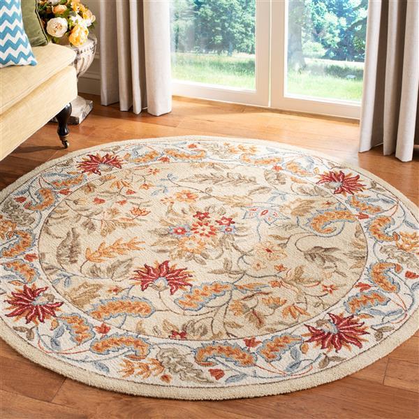 Safavieh Chelsea Floral Rug - 3' x 3' - Wool - Ivory