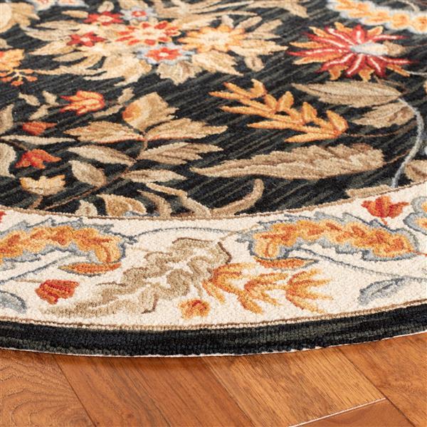 Safavieh Chelsea Floral Rug - 2.5' x 6' - Wool - Black