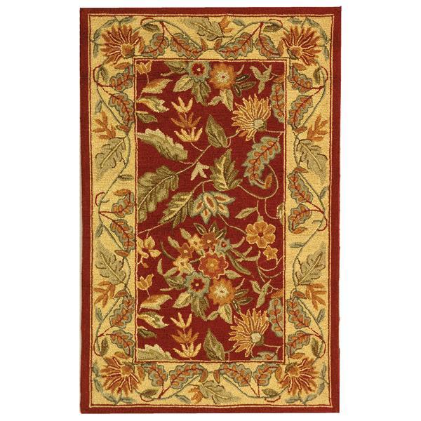 Safavieh Chelsea Floral Rug - 2.5' x 4' - Wool - Red