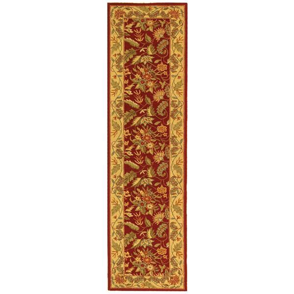 Safavieh Chelsea Floral Rug - 2.5' x 8' - Wool - Red