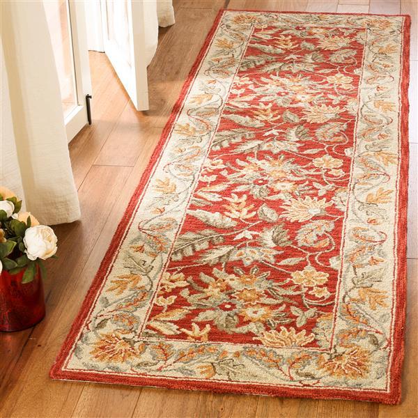Safavieh Chelsea Floral Rug - 2.5' x 6' - Wool - Red