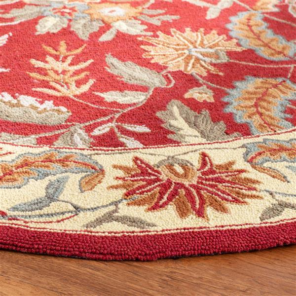 Safavieh Chelsea Floral Rug - 2.8' x 4.8' - Wool - Red