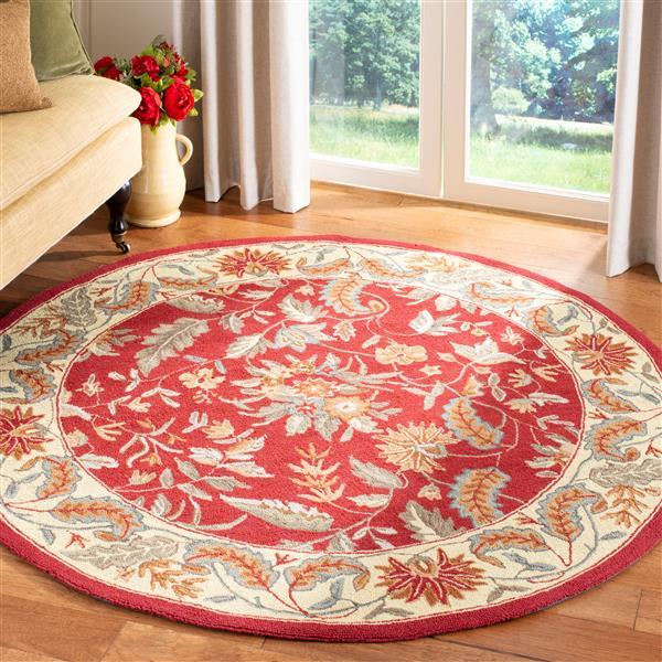 Safavieh Chelsea Floral Rug - 3' x 3' - Wool - Red