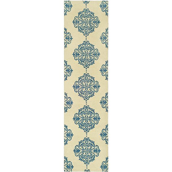 Safavieh Chelsea Floral Rug - 2.5' x 6' - Wool - Ivory/Blue