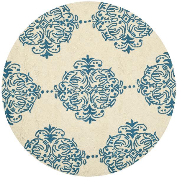 Safavieh Chelsea Floral Rug - 4' x 4' - Wool - Ivory/Blue