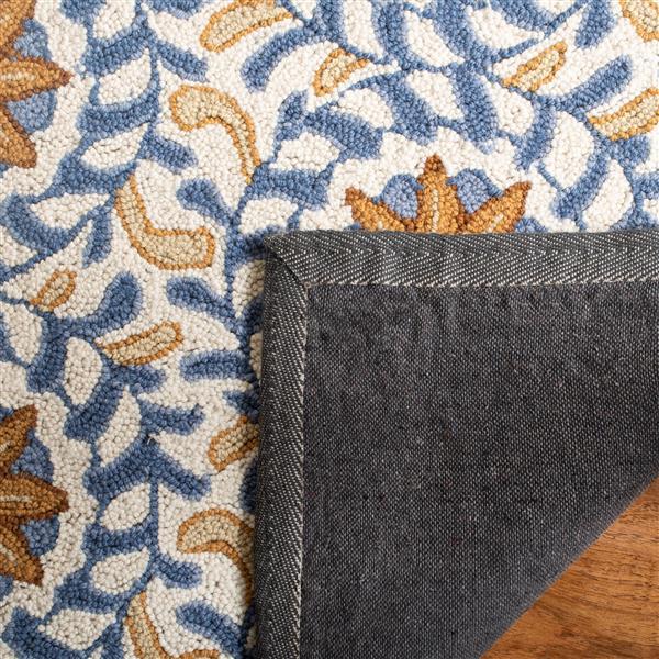 Safavieh Chelsea Floral Rug - 2.5' x 8' - Wool - Ivory/Blue