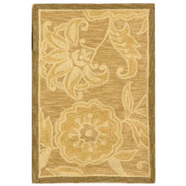 Safavieh Chelsea Floral Rug - 1.7' x 2.5' - Wool - Light Brown