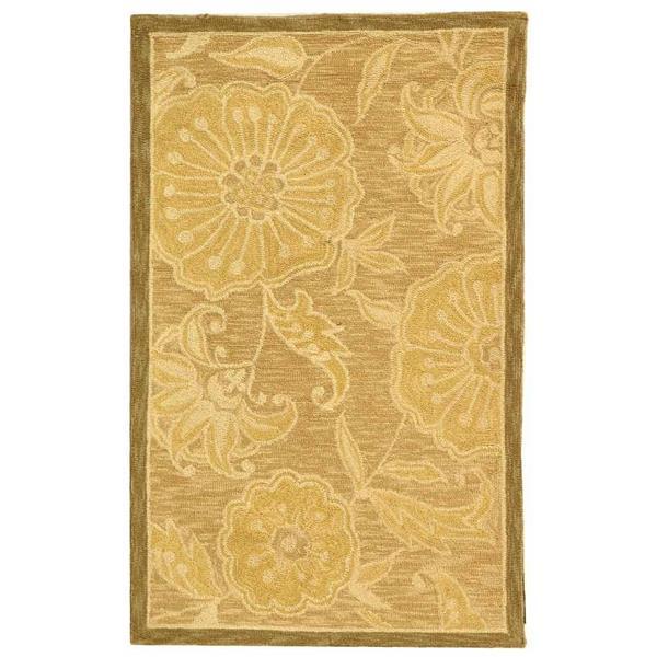 Safavieh Chelsea Floral Rug - 2.5' x 4' - Wool - Light Brown
