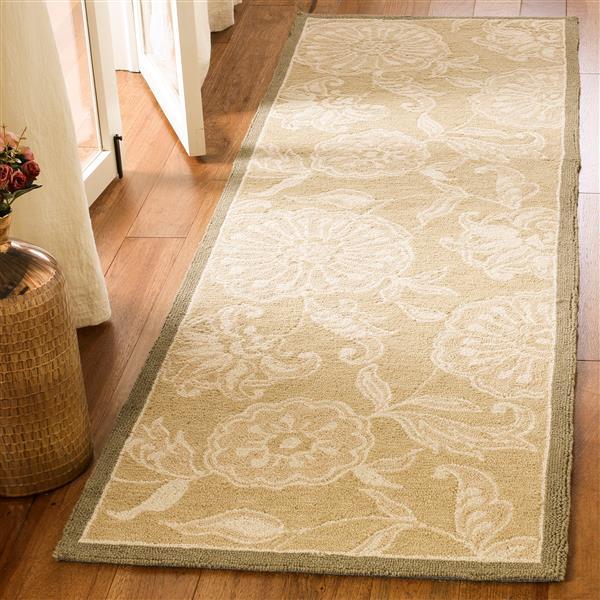 Safavieh Chelsea Floral Rug - 2.5' x 6' - Wool - Brown