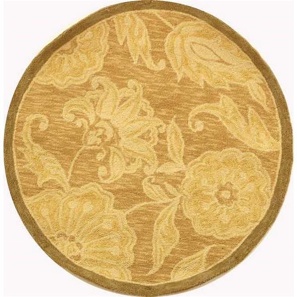 Safavieh Chelsea Floral Rug - 3' x 3' - Wool - Light Brown