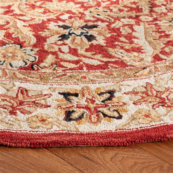 Safavieh Chelsea Floral Rug - 2.5' x 4' - Wool - Red/Ivory
