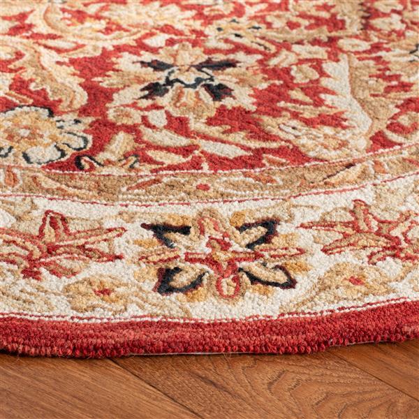 Safavieh Chelsea Floral Rug - 2.5' x 8' - Wool - Red/Ivory