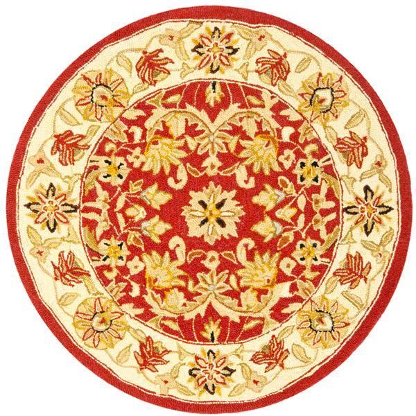 Safavieh Chelsea Floral Rug - 3' x 3' - Wool - Red/Ivory