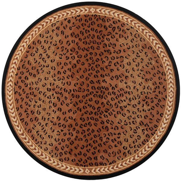 Safavieh Chelsea Print Rug - 4' x 4' - Wool - Black/Brown