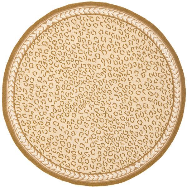 Safavieh Chelsea Print Rug - 3' x 3' - Wool - Ivory