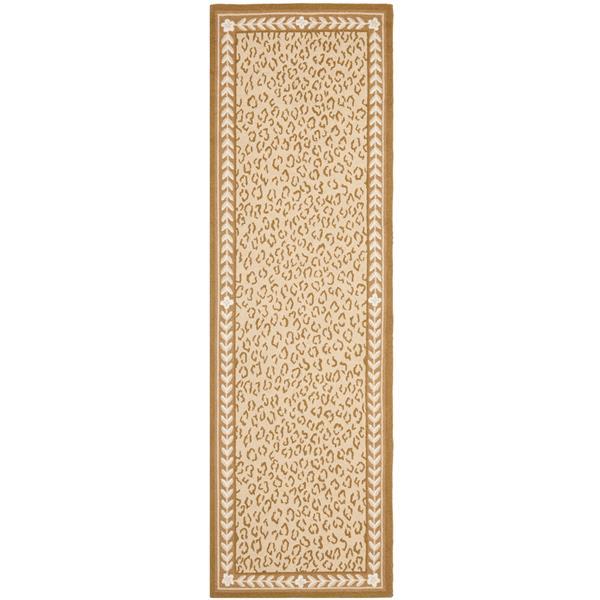 Safavieh Chelsea Print Rug - 2.5' x 8' - Wool - Ivory