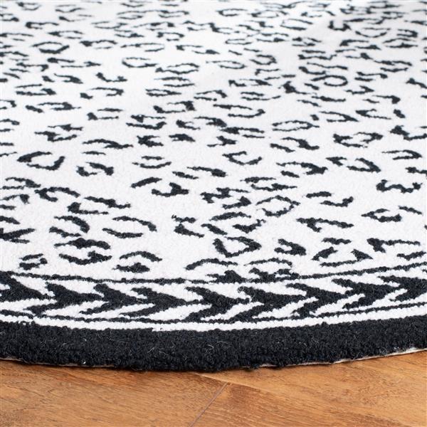 Safavieh Chelsea Print Rug - 3' x 3' - Wool - White/Black