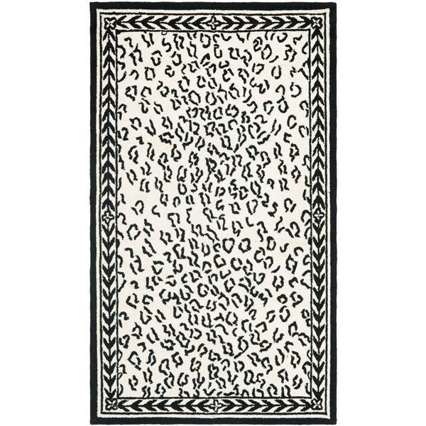 Safavieh Chelsea Print Rug - 2.8' x 4.8' - Wool - White/Black