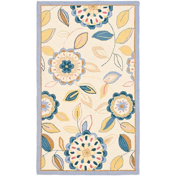 Safavieh Chelsea Floral Rug - 2.5' x 4' - Wool - Multicolour