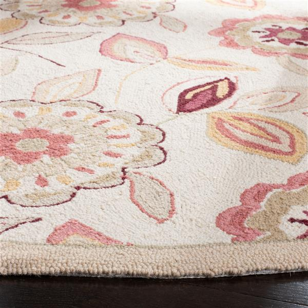 Safavieh Chelsea Floral Rug - 4' x 4' - Wool - Ivory/Taupe